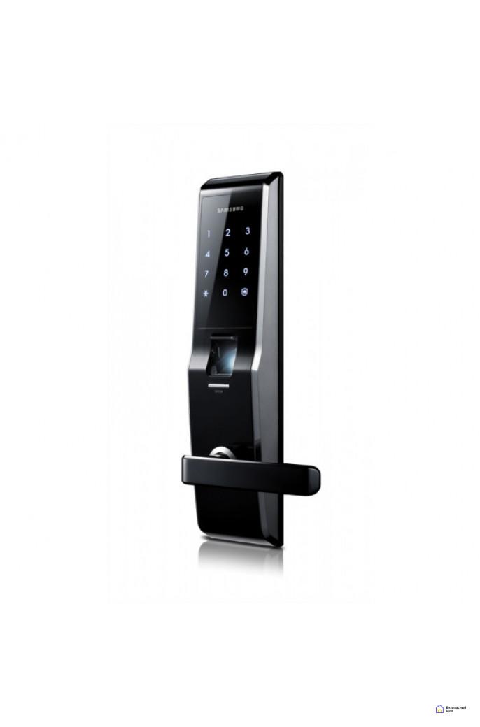 Врезной электронный дверной замок Samsung SHS-H705/5230 Black с отпечатком пальца, фото 3