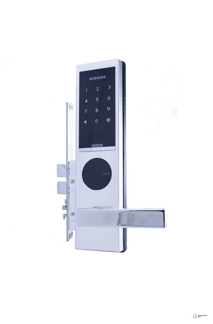 Врезной электронный дверной замок Samsung SHS-H635/6020 Silver, фото 6