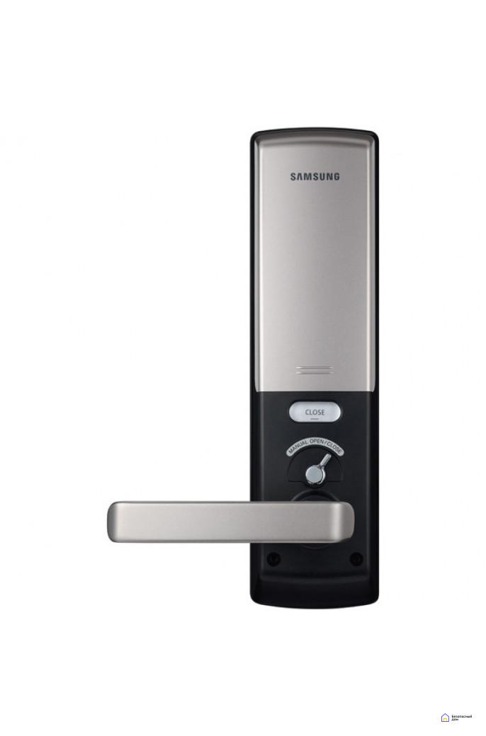 Врезной электронный дверной замок Samsung SHS-H505/5050 Black, фото 4