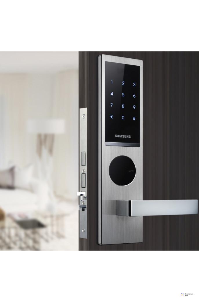 Врезной электронный дверной замок Samsung SHS-H635/6020 Silver, фото 2