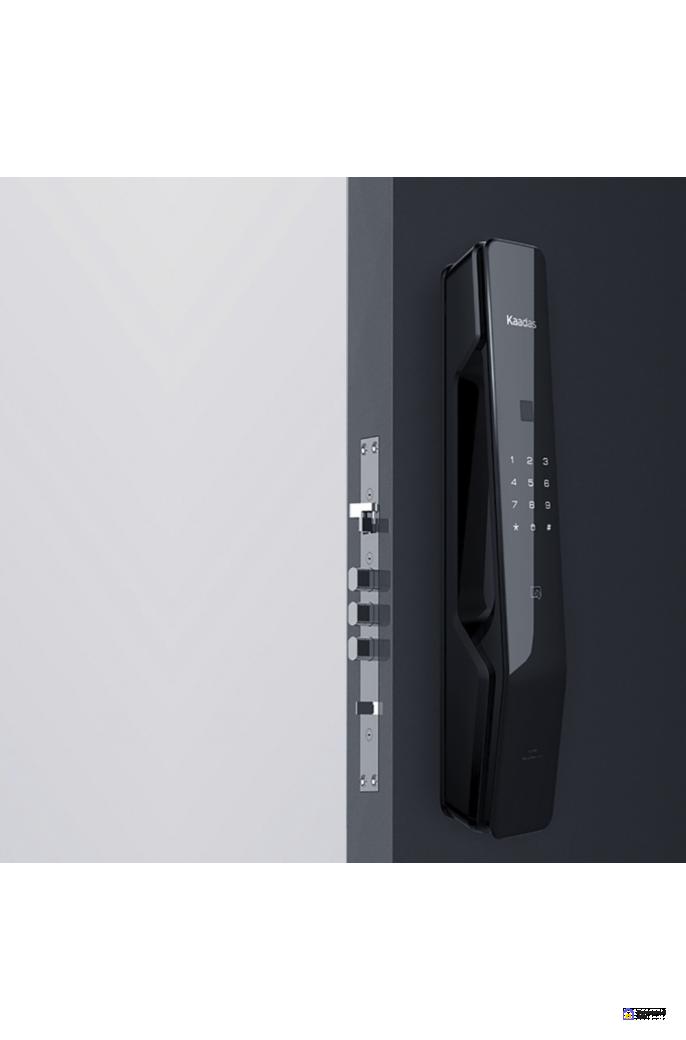 Врезной электронный дверной замок Kaadas KX-T Black с отпечатком пальца, фото 2