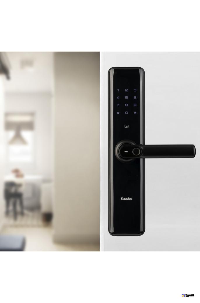 Врезной электронный дверной замок Kaadas S8 Black с отпечатком пальца, фото 2