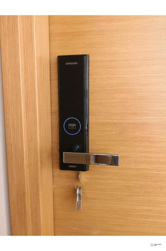 Врезной электронный дверной замок Samsung SHS-H505/5050 Black, фото 9