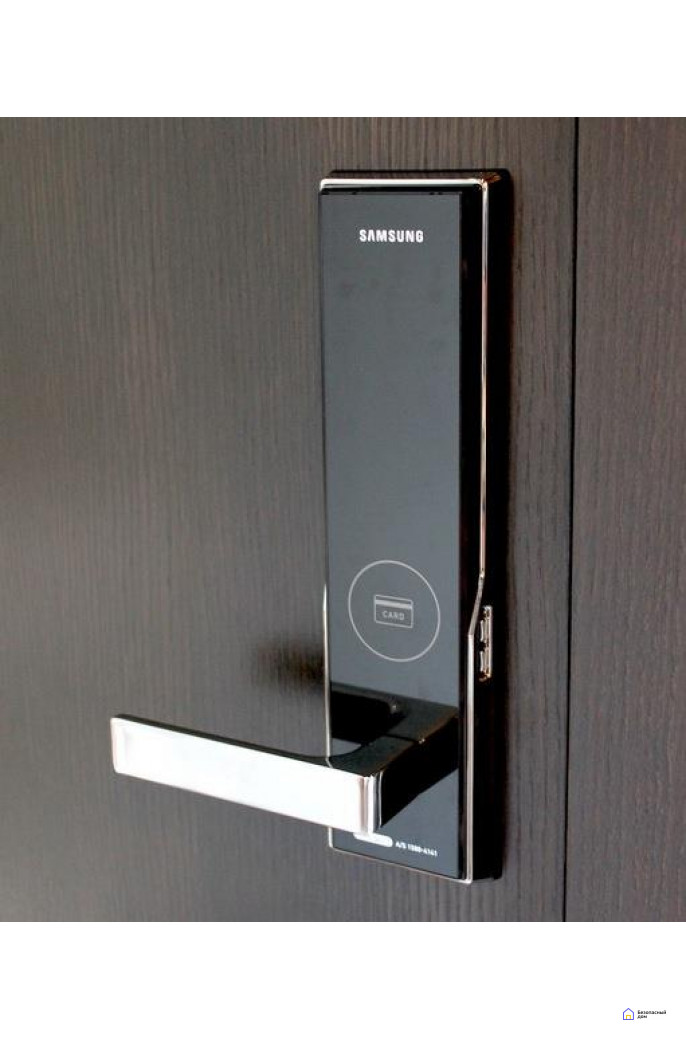 Врезной электронный дверной замок Samsung SHS-H505/5050 Black, фото 7