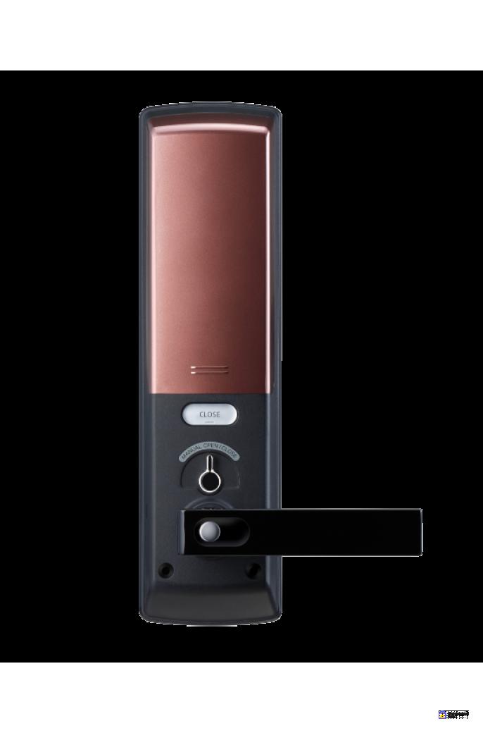 Врезной электронный дверной замок Samsung SHP-DH538 Copper с отпечатком пальца, фото 3