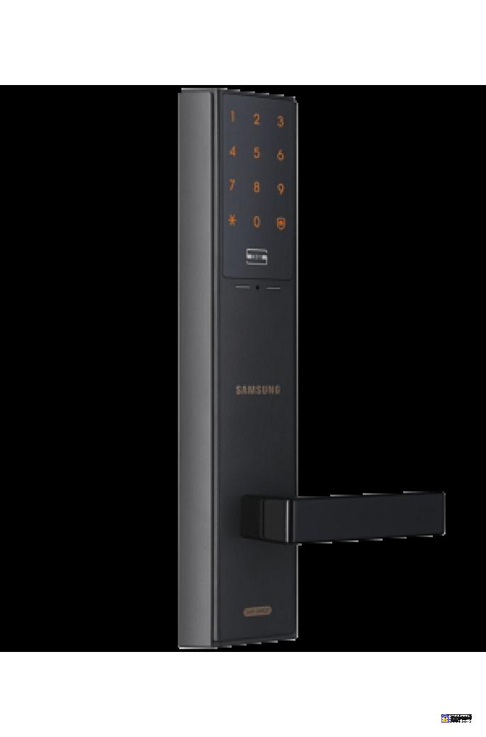 Врезной электронный дверной замок Samsung SHP-DH537 Black, фото 2