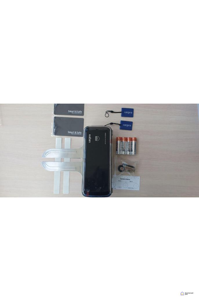 Накладной электронный замок LocPro GL725B2 Series Black (для стеклянных дверей), фото 3