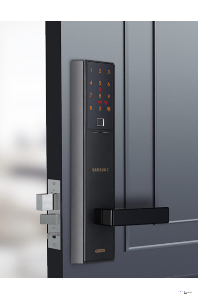 Врезной электронный дверной замок Samsung SHP-DH538 Black с отпечатком пальца, SHP-DH538MU/VK, фото 5