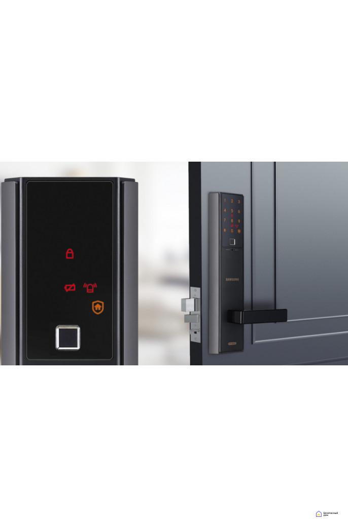 Врезной электронный дверной замок Samsung SHP-DH538 Black с отпечатком пальца, SHP-DH538MU/VK, фото 4