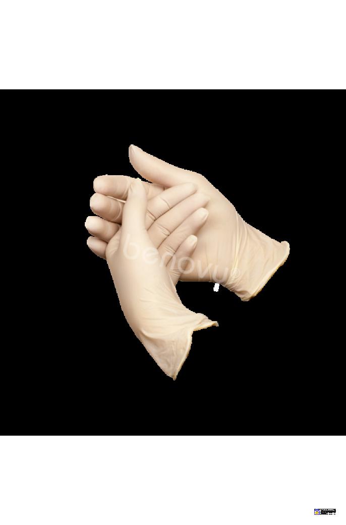 Перчатки латексные Benovy Latex Chlorinated  размер M, фото 1