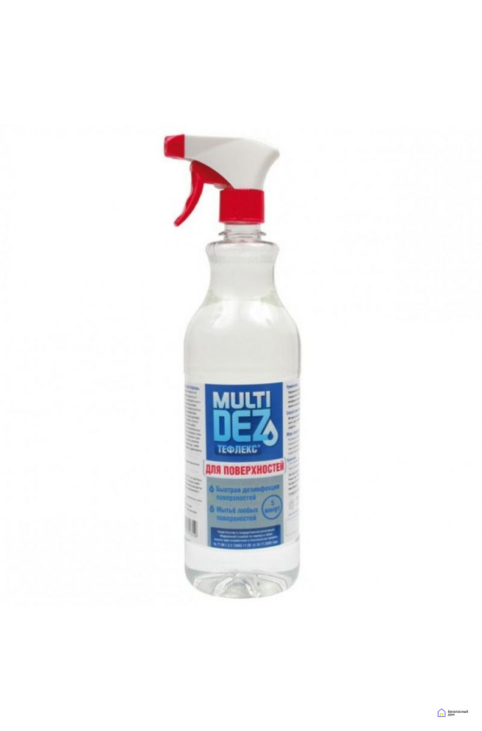 «МультиДез-Тефлекс для дезинфекции и мытья поверхностей» (с триггером), 500 мл, фото 1