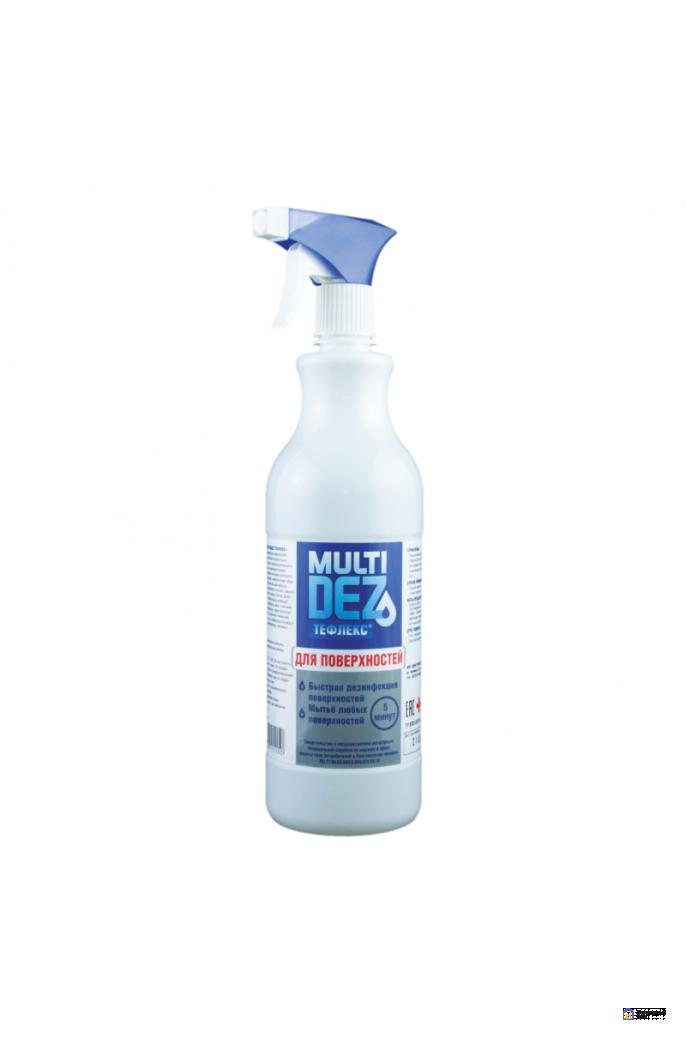 «МультиДез-Тефлекс для дезинфекции и мытья поверхностей» (с триггером), 1000 мл, фото 1