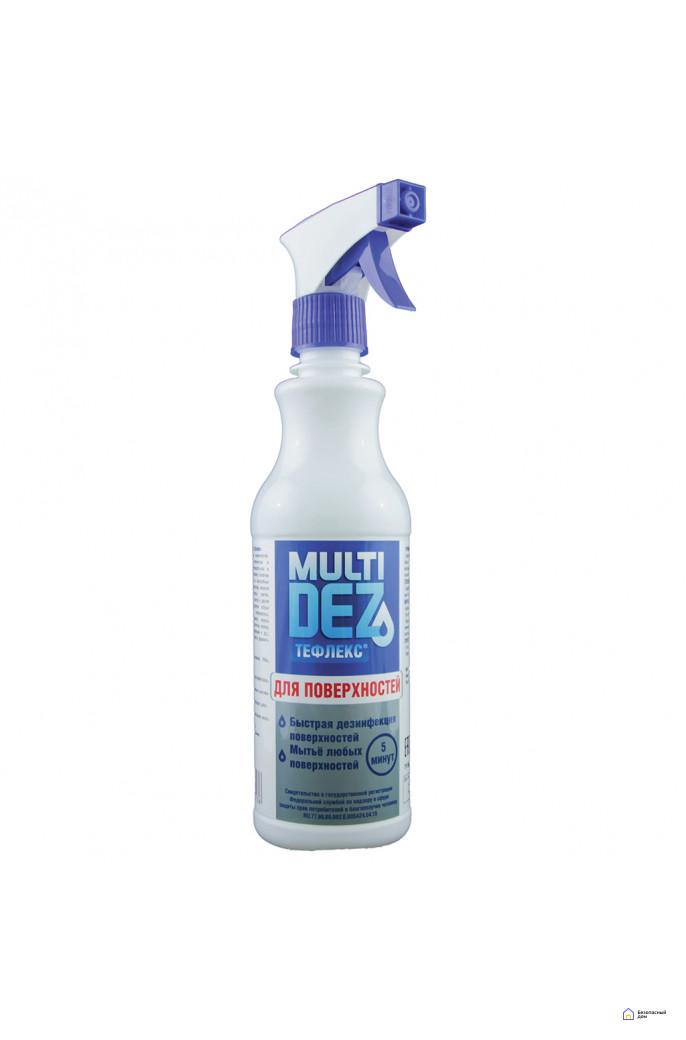 «МультиДез-Тефлекс для дезинфекции и мытья поверхностей» (с триггером), 1000 мл, фото 3