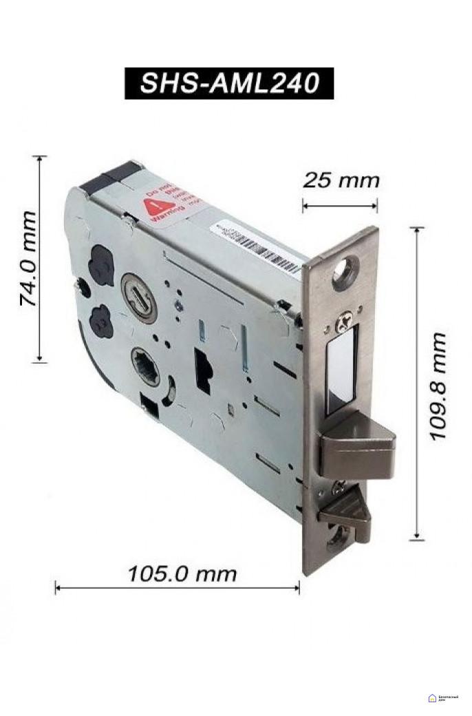 Врезной электронный дверной замок Samsung SHP-DH538 Black с отпечатком пальца, SHP-DH538MU/VK, фото 6