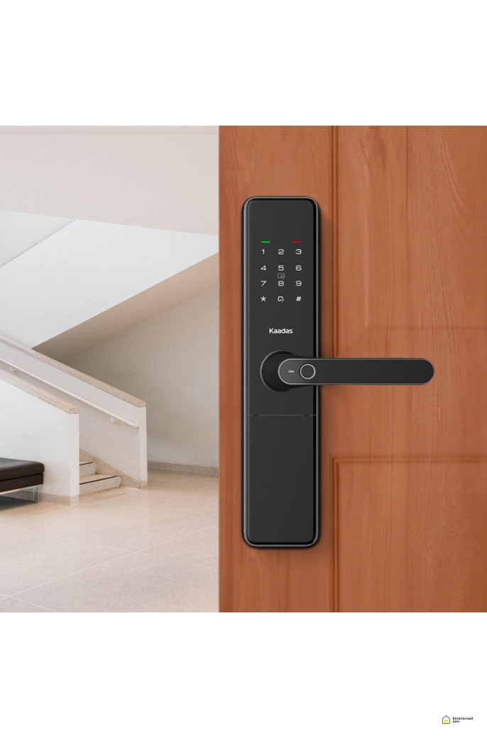 Врезной электронный дверной замок Kaadas S500 с отпечатком пальца, фото 2
