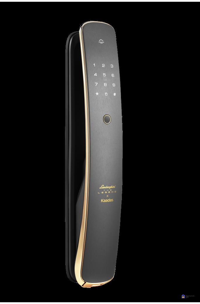 Биометрический дверной замок Kaadas Х Lamborghini gold, фото 1