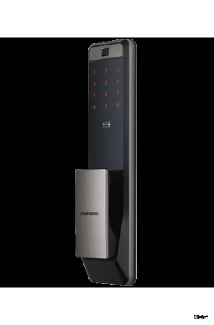 Врезной электронный дверной замок Samsung SHP-DP609 Silver с отпечатком пальца, фото 2