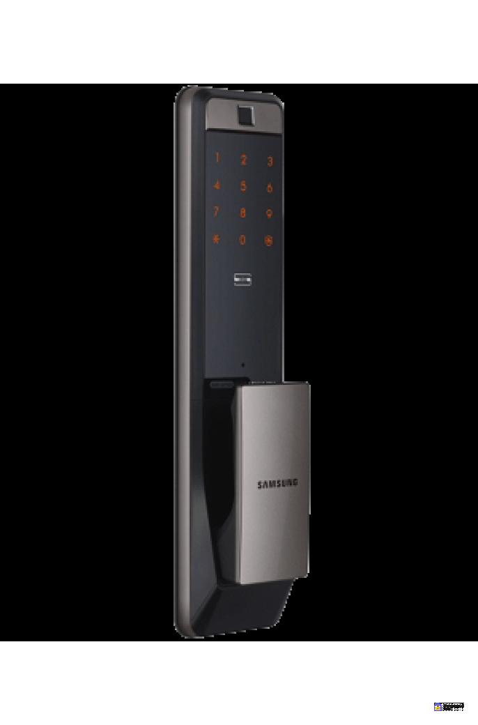 Врезной электронный дверной замок Samsung SHP-DP609 Silver с отпечатком пальца, фото 4