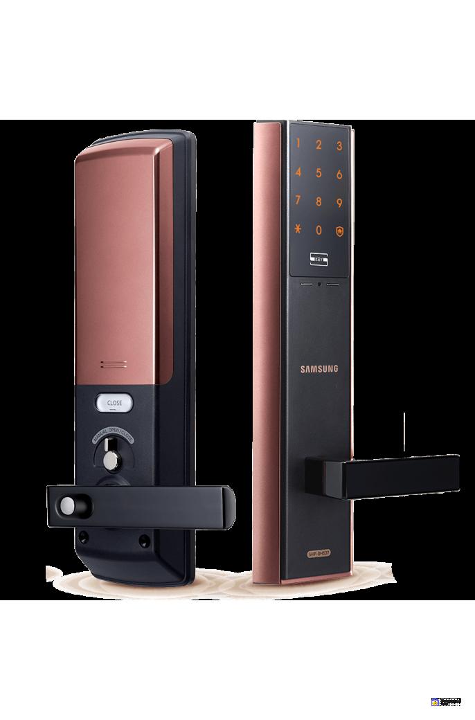 Врезной электронный дверной замок Samsung SHP-DH537 Copper, фото 1