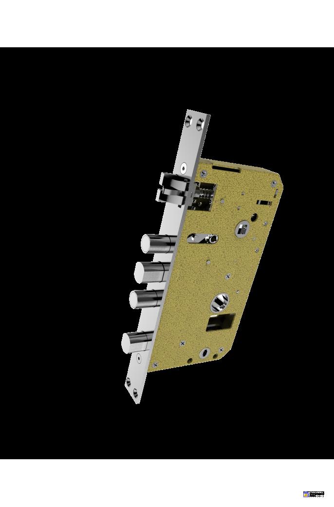 Врезной электронный дверной замок Kaadas S500 с отпечатком пальца, фото 8