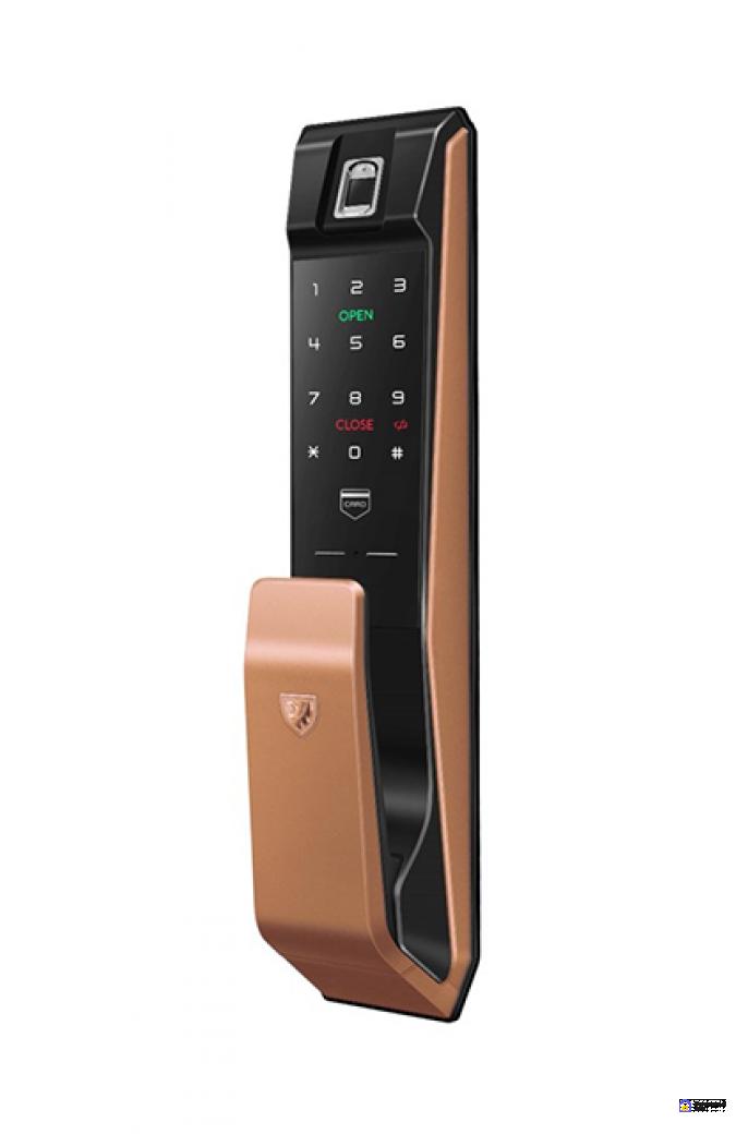 Врезной электронный дверной замок LocPro K500B4GF Series Digital Door Lock с отпечатком пальца, фото 1