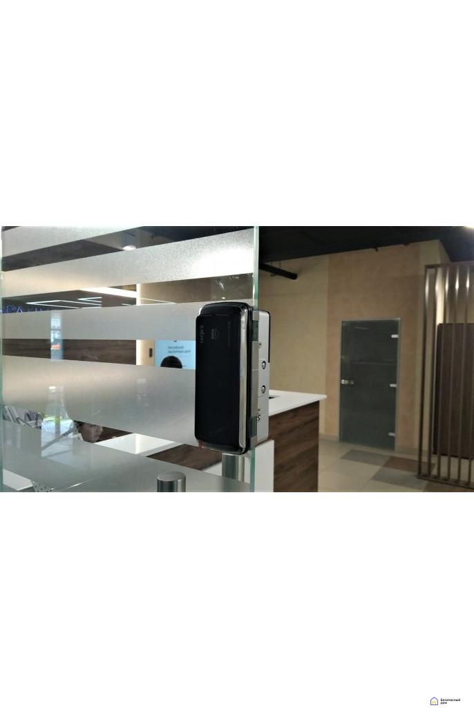 Накладной электронный дверной замок LocPro GL725B2 Series Black без монтажных пластин (для стеклянных дверей), фото 2