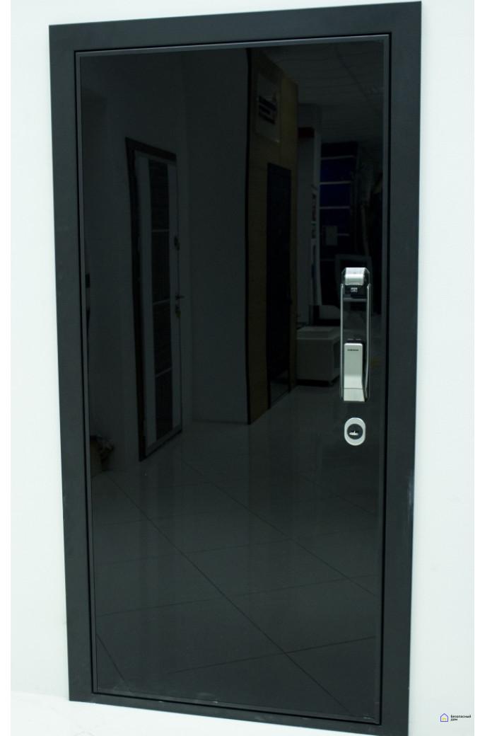 Врезной электронный дверной замок Samsung SHS-P718 Chrome с отпечатком пальца (открытие наружу), фото 11