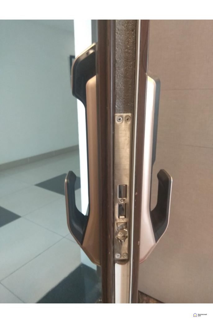 Врезной электронный дверной замок Samsung SHP-DP728 Dark Silver с отпечатком пальца, фото 4