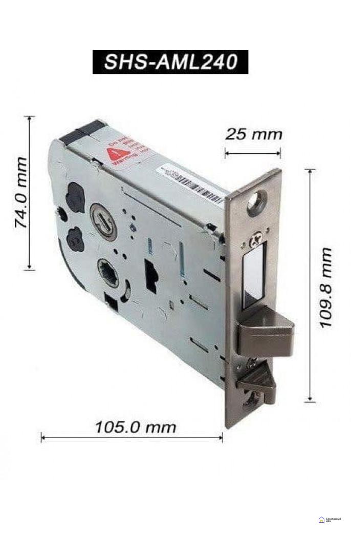 Врезной электронный дверной замок Samsung SHP-DP728 Dark Silver с отпечатком пальца, фото 6