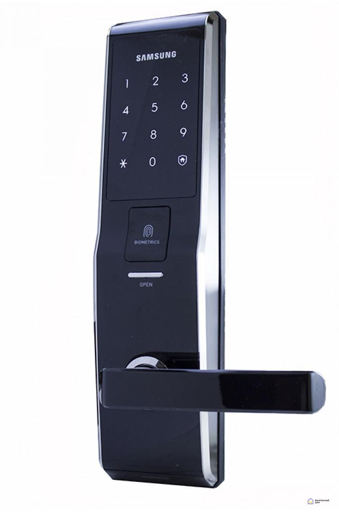 Врезной электронный дверной замок Samsung SHS-H705/5230 Black с отпечатком пальца, фото 1