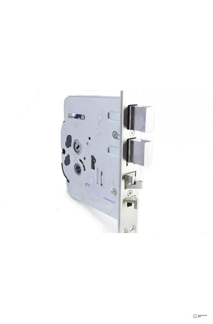 Врезной электронный дверной замок Samsung SHS-P718 Brown с отпечатком пальца (открытие наружу), фото 5