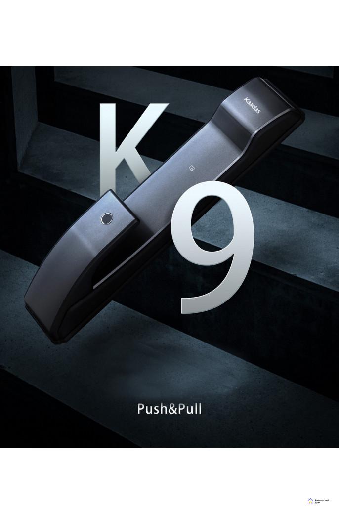 Врезной электронный дверной замок Kaadas K9 Black с отпечатком пальца, фото 6