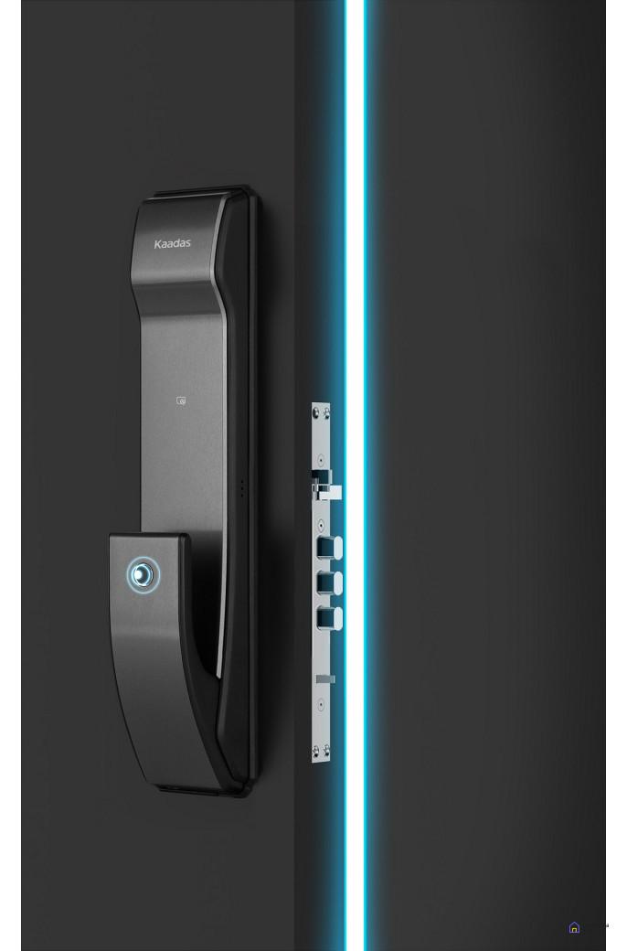Врезной электронный дверной замок Kaadas K9 Black с отпечатком пальца, фото 4