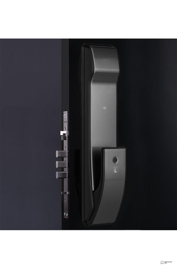 Врезной электронный дверной замок Kaadas K9 Black с отпечатком пальца, фото 2