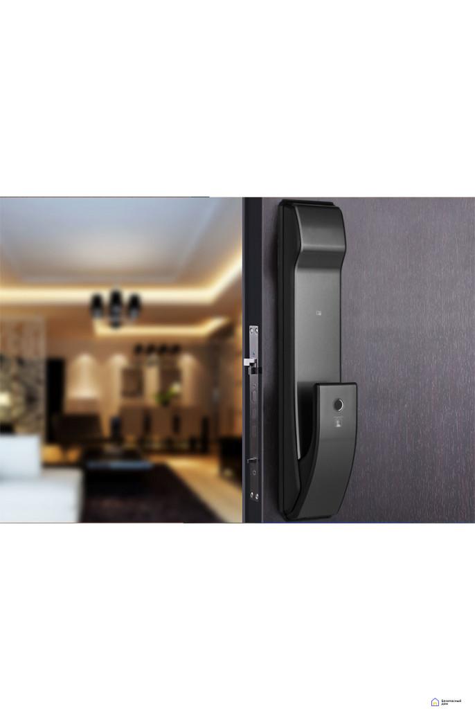 Врезной электронный дверной замок Kaadas K9 Black с отпечатком пальца, фото 3