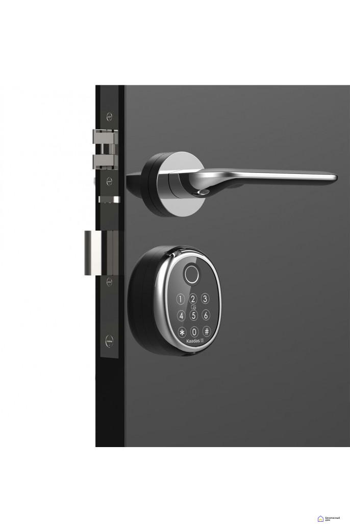 Врезной электронный дверной замок Kaadas M9 Chrome с отпечатком пальца, фото 4