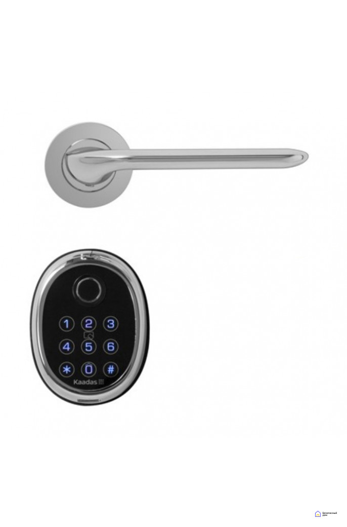 Врезной электронный дверной замок Kaadas M9 Chrome с отпечатком пальца, фото 1