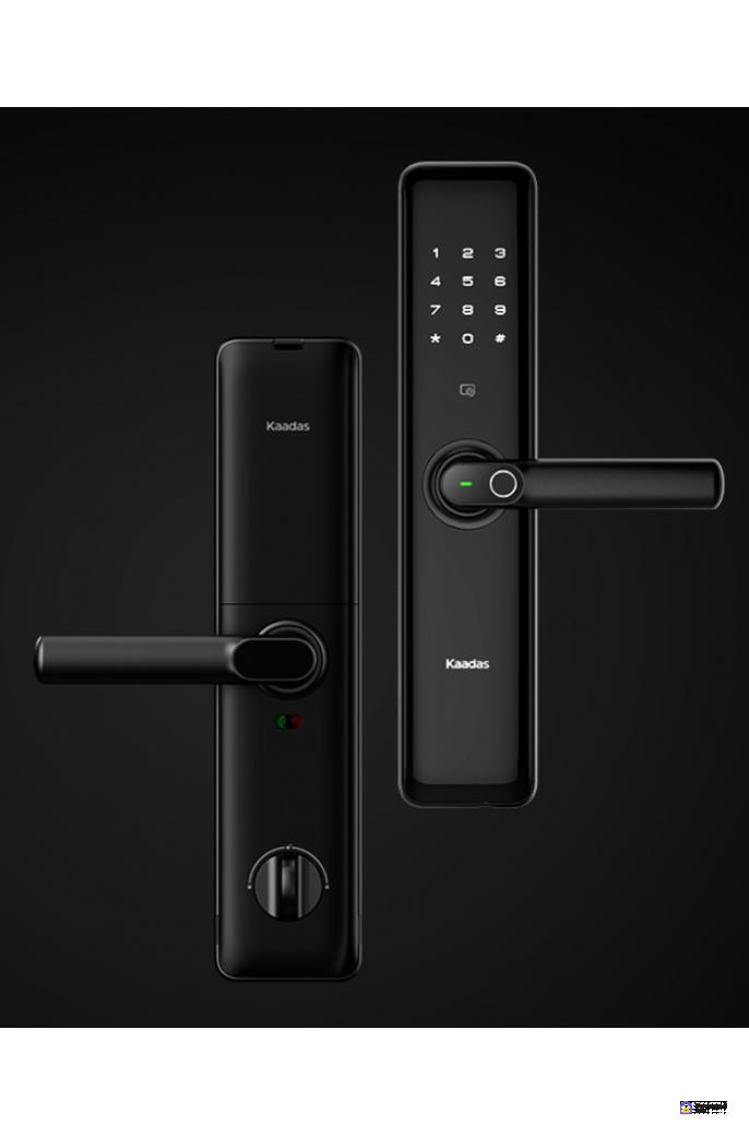 Врезной электронный дверной замок Kaadas S8 Black с отпечатком пальца, фото 4